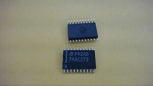 National 74ac273dw 20 pin Soic Integrated Circuit New Lot Quantity 4