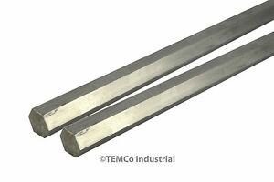 2 Lot 1 2 Inch 24 Long 304 Stainless Steel Hex Bar Lathe Ss Rod Stock 50
