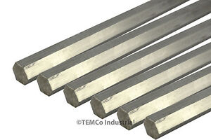 6 Lot 1 2 Inch 24 Long 304 Stainless Steel Hex Bar Lathe Ss Rod Stock 50