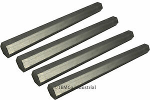 4x 7 8 Inch 10 Long 304 Stainless Steel Hex Bar Lathe Ss Rod Stock 875