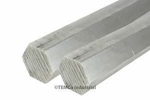 2 Lot 1 3 8 Inch 24 Long 6061 Aluminum Hex Bar Lathe Rod Stock 1 375