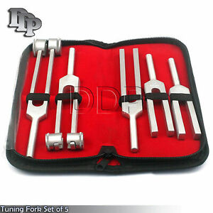 5 In 1 Tuning Fork With Buck Hammer Diagnostic Set Emt Surgical Ems Supply 6 Pcs