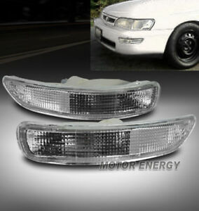 93 97 Toyota Corolla Front Bumper Light Lamp Jdm Clear Dx Le Turn Signal Parking