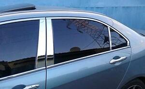 Toyota Camry 12 13 14 Real Stainless Steel Chrome Door Pillars 2012 2013 2014