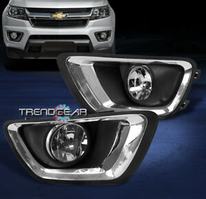 2015 2017 Chevy Colorado Truck Front Bumper Driving Fog Light Lamp Chrome W bulb