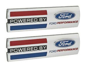 Mustang powered By Ford Performance 5 5 Emblems Fender Badges Chrome Pair