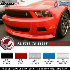 Fits 10 12 Ford Mustang V6 S Style Front Bumper Lip Painted
