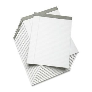 skilcraft Writing Pad 50 Sheet 16lb Wide Ruled Letter White 7530 01 447 1353