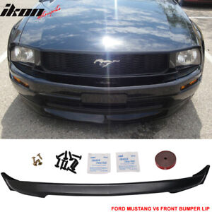 Fits 05 09 Ford Mustang V6 3c Front Bumper Lip Spoiler Unpainted Urethane Pu