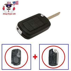 Folding Shell Remote Key Case 3 Button For Land Rover Lr3 Range Rover Sport
