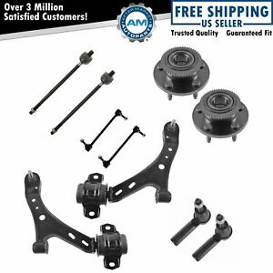 Wheel Hub Bearing Control Arm Ball Joint Tie Rod Sway Bar Link For 05 10 Mustang
