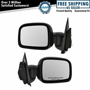 Folding Manual Side View Mirrors Left Right Pair Set For 02 07 Jeep Liberty