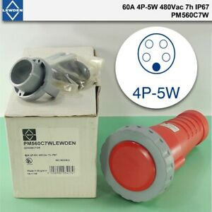 New Lewden Pm560c7w 60a 4p 5w 480vac 7h ip67 Waterproof Connector