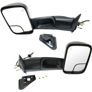 Left And Right 98 01 For Dodge Ram 1500 2500 Flipup Power Heated Towing Mirrors