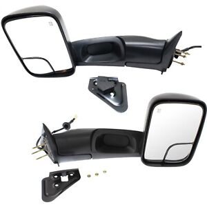 Left Right 1998 2001 For Dodge Ram 1500 2500 Flipup Power Heated Tow Mirrors
