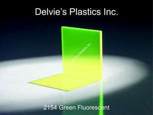5 Sheets 1 8 2154 Fluorescent Green Cell Cast Acrylic Sheet 12 X 24