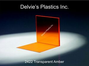 5 Sheets 1 8 2422 Transparent Amber Cell Cast Acrylic Sheet 12 X 12
