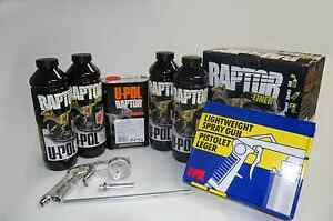 U Pol Raptor Black Truck Bed Liner Kit 1 Spray Gun