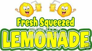 Fresh Squeezed Lemonade Decal 36 Cold Drinks Food Truck Concession Restaurant