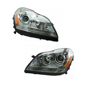 Mercedes Gl Left Right Headlight Headlamp Assembly Set Without Xenon Oem Hella