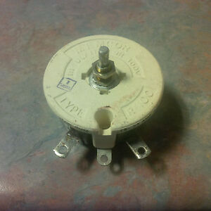 Rheostat 2500 Ohms 100 Watts 300vdc Type R 100 1 Piece