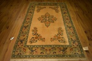 Antique 5 X 7 Original Persian Kashan Rug Iran
