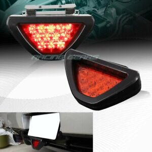 Universal F1 Style Triangle 12 Red Led Red Lens Third 3rd Brake Light Stop Lamp