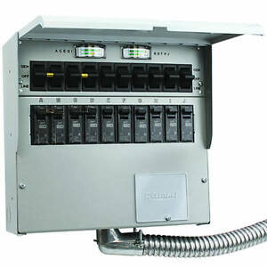 Reliance Controls Pro tran 2 50 amp 120 240v 10 circuit Transfer Switch W