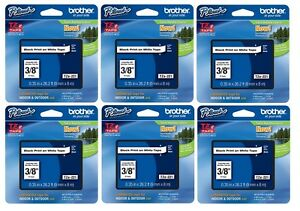 Genuine Brother Tze221 Tze221 Tz221 P touch Label Tape 6 Pack Ptouch