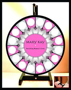 Prize Wheel 18 Spinning Tabletop Portable Mary Kay 2015 Starburst Center