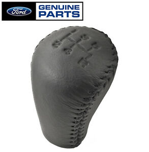 1983 2004 Mustang 5 Speed Genuine Ford Oem Black Leather Shifter Shift Knob