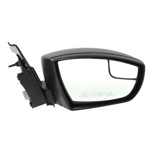 Mirror For 2013 2016 Ford Escape Manual Folding Textured Black Front Right