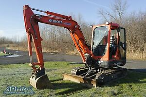 2013 Kubota Kx121r3t3 Excavator With Heated Cab And A Standard Blade