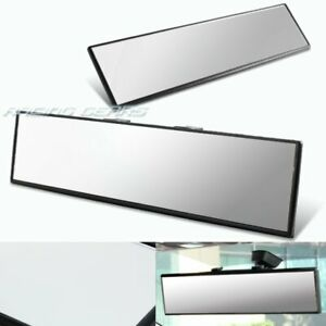 300mm Wide Flat Interior Clear Clip On Panoramic Rear View Mirror Universal 2