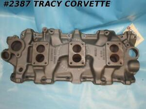 1958 1961 Chevrolet Tri Power Dated Intake Manifold 3749948 3x2 For 348w Engines