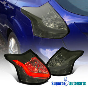 For 2012 2014 Ford Focus 5 D Hatchback Led Smoke Tail Lights Lamps Pair Bulbs