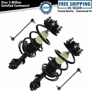 Front Suspension Kit Strut Spring Assemblies With Sway Links For Dodge Jeep