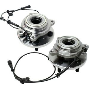 Set Of 2 Front Wheel Hubs With Bearings For 99 04 Land Rover Discovery Series Ll