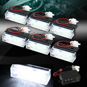 18 White Led Emergency Hazard Warning Flash Strobe Light Bar Kit Universal 9