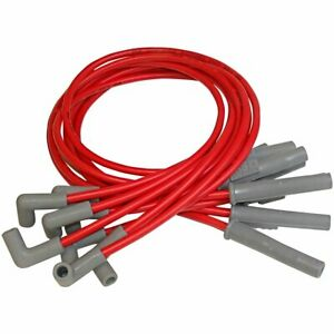 Msd Spark Plug Wires Spiral Core 8 5mm Red Multi angle Boots Ford Mustang 5 0l