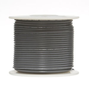 20 Awg Gauge Stranded Hook Up Wire Gray 500 Ft 0 0320 Ul1007 300 Volts