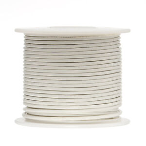 22 Awg Gauge Solid Hook Up Wire White 500 Ft 0 0253 Ul1007 300 Volts