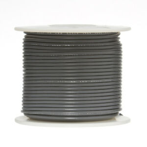 22 Awg Gauge Stranded Hook Up Wire Gray 500 Ft 0 0253 Ul1007 300 Volts