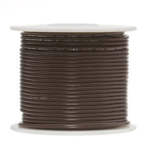 22 Awg Gauge Solid Hook Up Wire Brown 500 Ft 0 0253 Ul1007 300 Volts
