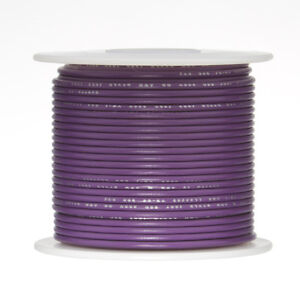 22 Awg Gauge Solid Hook Up Wire Violet 500 Ft 0 0253 Ul1007 300 Volts