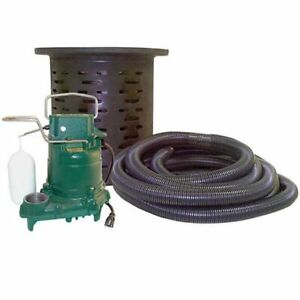 Zoeller 108 0001 3 10 Hp Cast Iron Crawl Space Pump System W 24 Hose Kit