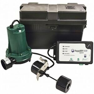 Zoeller 508 Aquanot reg Spin Battery Backup Sump Pump System 1800 Gph 10