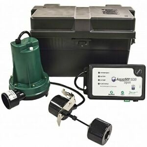 Zoeller 508 Aquanot reg Battery Backup Sump Pump System 1800 Gph 10