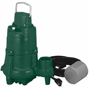 Zoeller Bn98 1 2 Hp Cast Iron Submersible Sump Pump W Tether Float Switch
