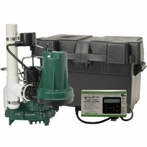 Zoeller Propack53 1 3 Hp Combination Primary Backup Sump Pump System